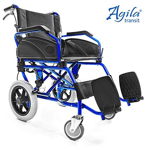 Silla Agila Plegable Ligera Para Ruedas Discapacitados Sistema Freno Transit ✔ Aluminio Doble Aiesi Y De Frenado Ultra Mayores Con drCoxWeB